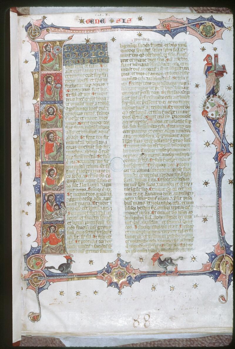 Tours, Bibl. mun., ms. 0008, f. 001 - vue 1