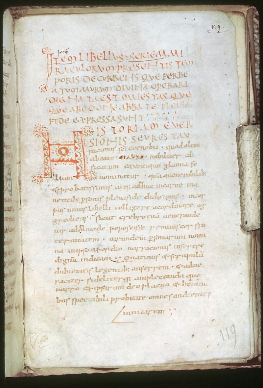 Tours, Bibl. mun., ms. 0020, f. 119 - vue 1