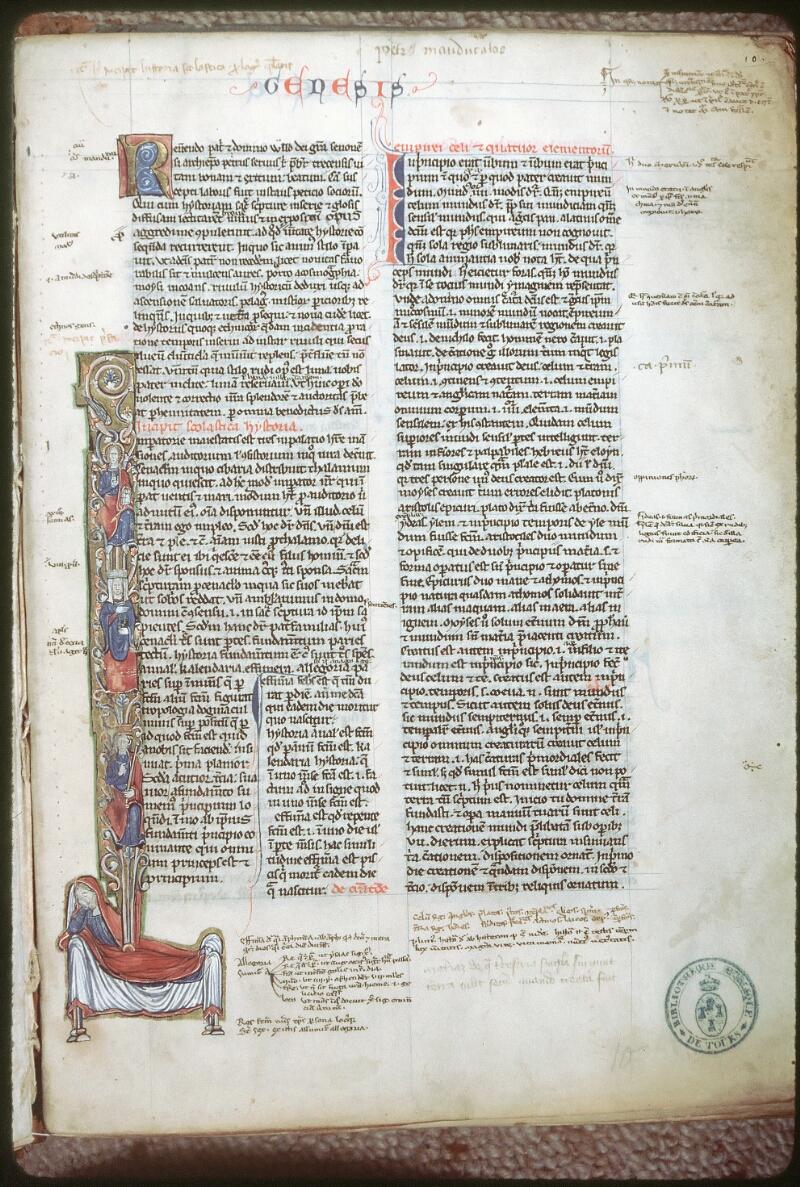 Tours, Bibl. mun., ms. 0041, f. 010 - vue 1