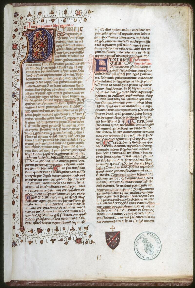 Tours, Bibl. mun., ms. 0058, f. 002 - vue 1