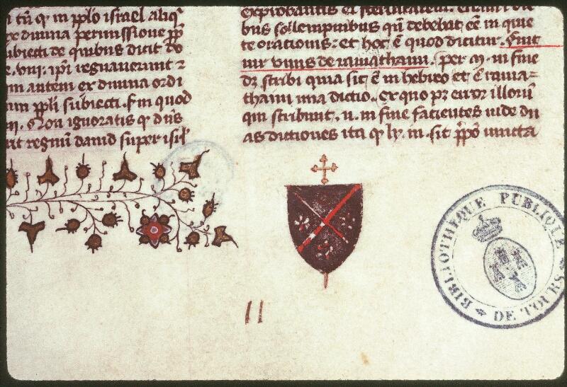 Tours, Bibl. mun., ms. 0058, f. 002 - vue 2
