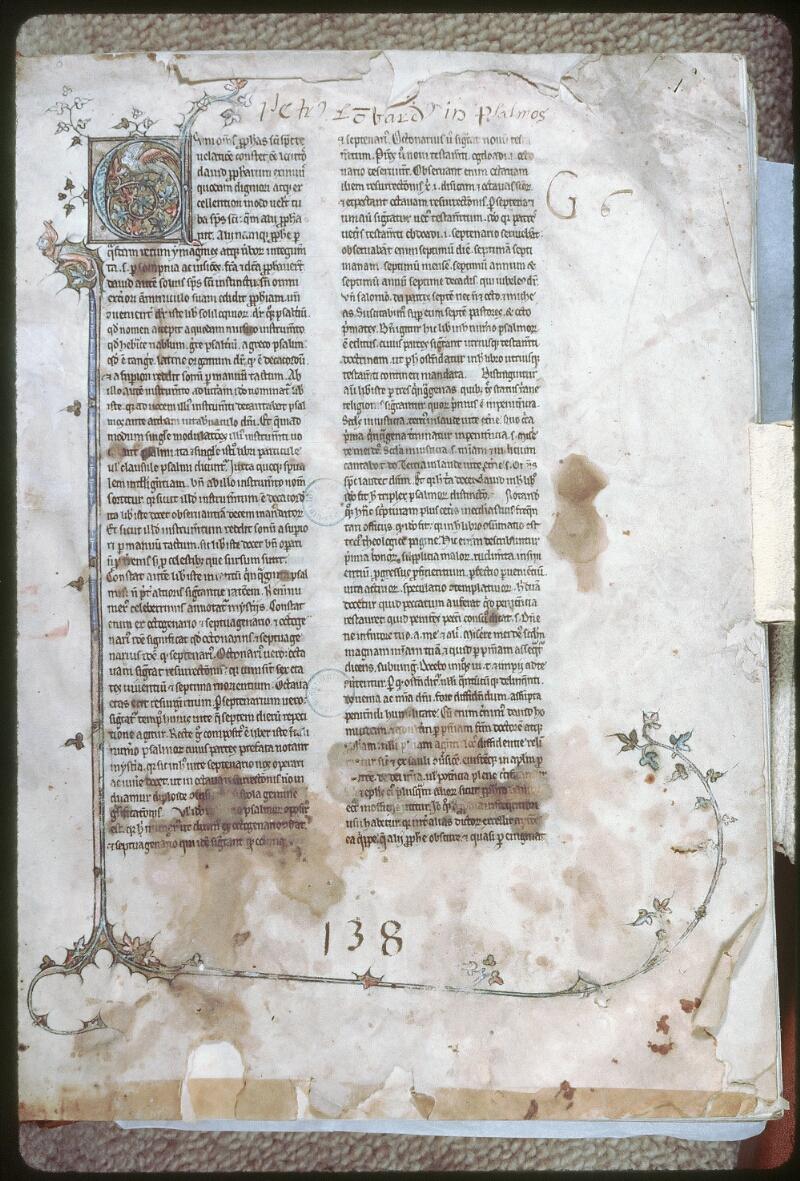 Tours, Bibl. mun., ms. 0074, f. 001 - vue 1