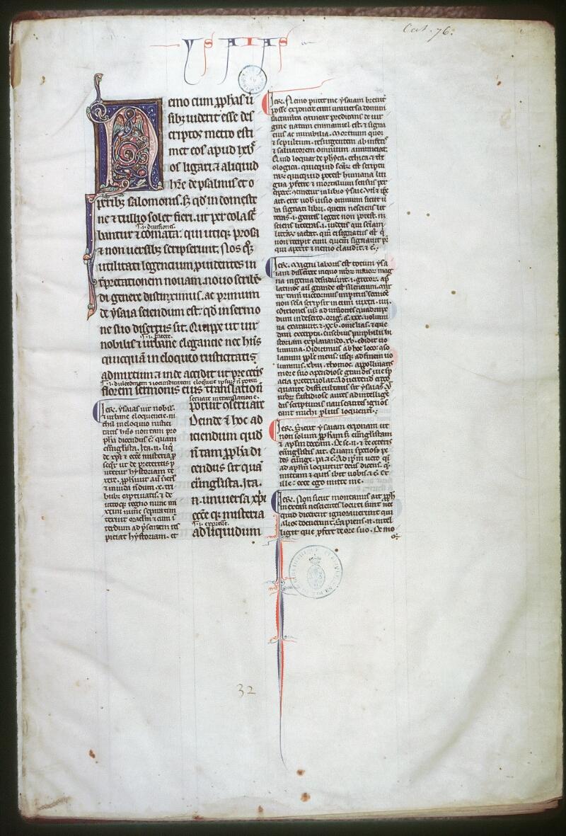 Tours, Bibl. mun., ms. 0076, f. 001