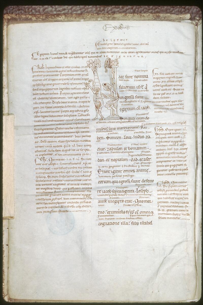 Tours, Bibl. mun., ms. 0082, f. 003v - vue 1