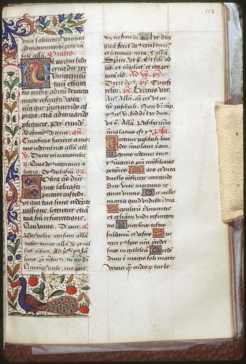 Tours, Bibl. mun., ms. 0151, f. 112 - vue 1