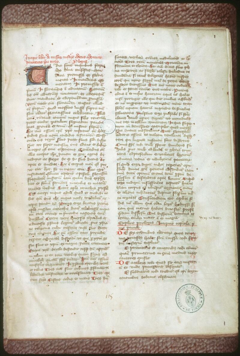 Tours, Bibl. mun., ms. 0139, f. 001