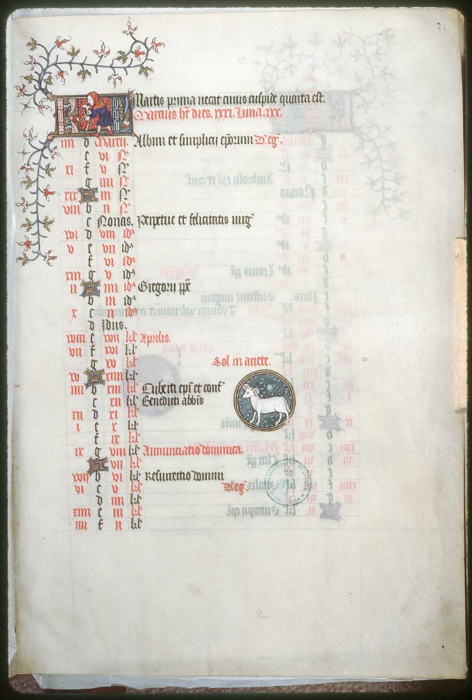 Tours, Bibl. mun., ms. 0185, f. 002 - vue 1