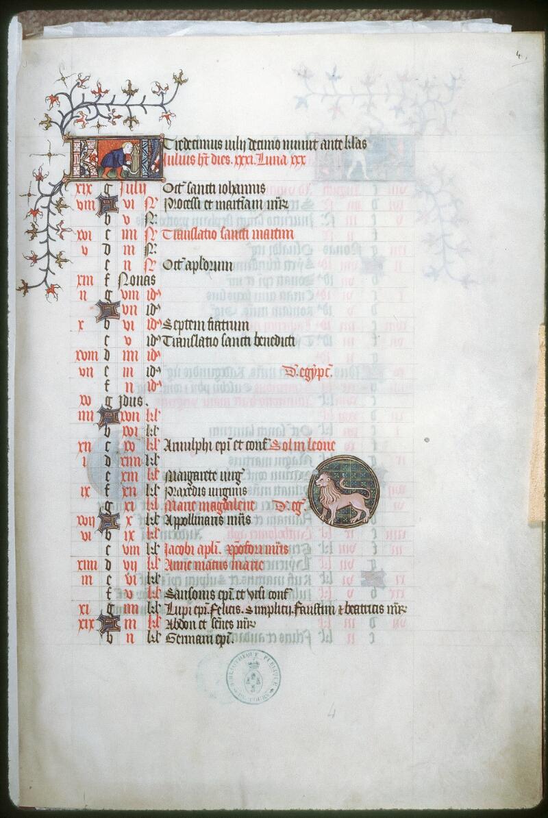 Tours, Bibl. mun., ms. 0185, f. 004 - vue 1