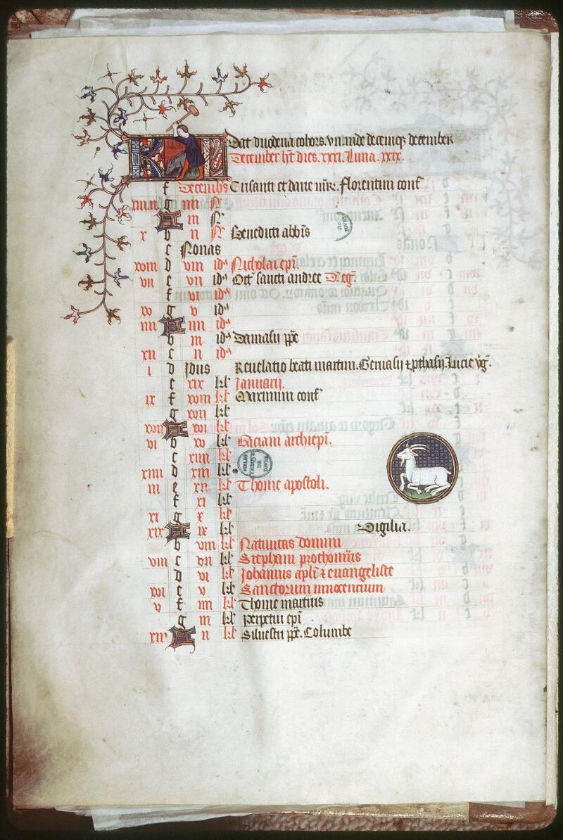Tours, Bibl. mun., ms. 0185, f. 006v - vue 1