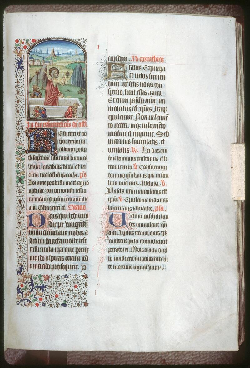 Tours, Bibl. mun., ms. 0187, f. 007 - vue 1