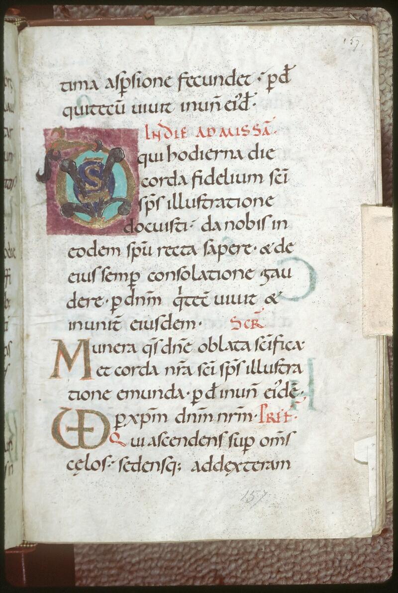 Tours, Bibl. mun., ms. 0196, f. 157