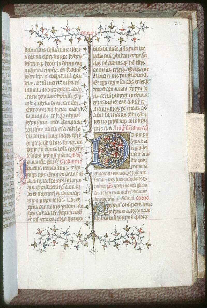 Tours, Bibl. mun., ms. 0199, f. 212 - vue 1