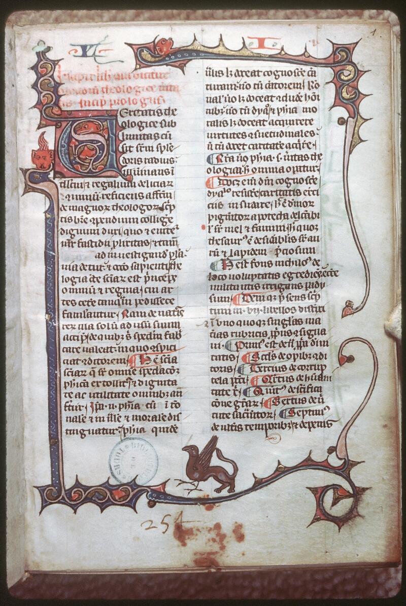 Tours, Bibl. mun., ms. 0397, f. 001 - vue 1