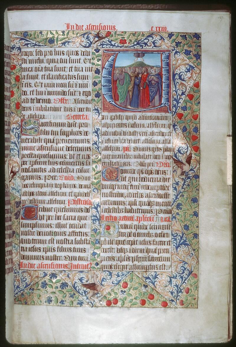Tours, Bibl. mun., ms. 0190, f. 127 - vue 1